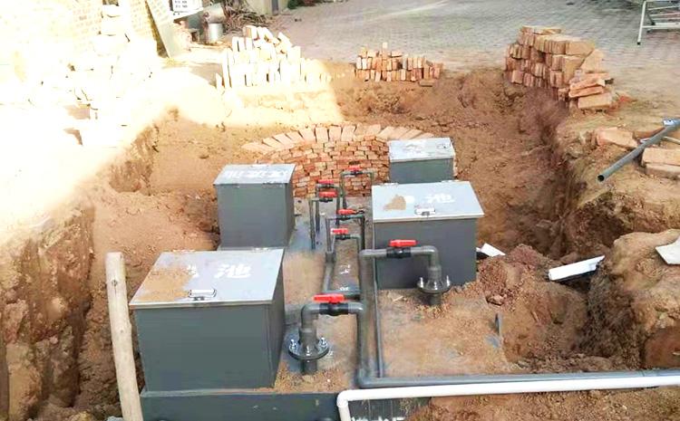 河北衡水地埋式污水处理设备安装图片