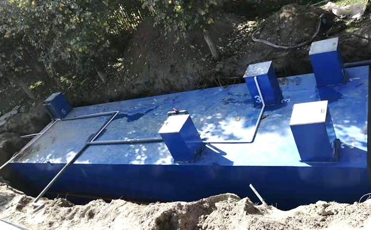 地埋式污水处理设备安装图片