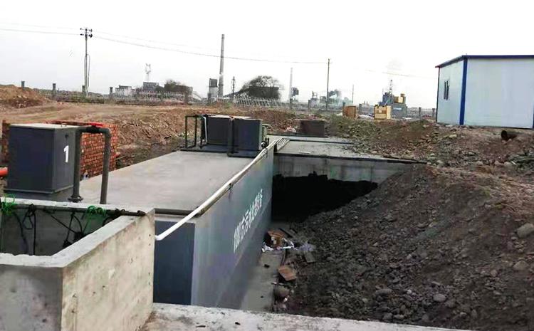 新疆拜城地埋式污水处理设备安装图片