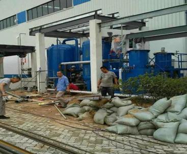 福建海关污水处理项目现场