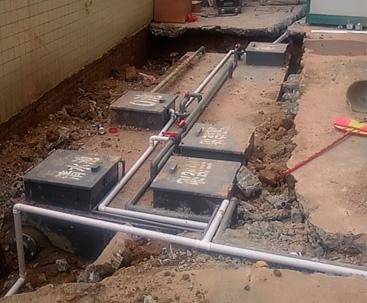 广东省AO一体化污水处理设备安装现场