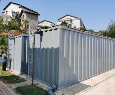 一体化污水处理设备安装现场